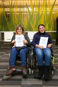 Jelena and Amela from Bosnian Doctors for Disabled NGO during Tech4Stories project in Sarajevo, March 2018